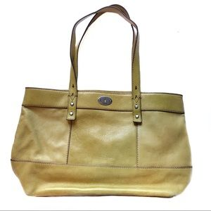 Fossil Hunter Tote/Shoulder Bag Mustard Yellow